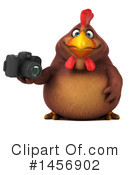 Royalty-Free (RF) Chubby Brown Chicken Clipart Illustration #1456902