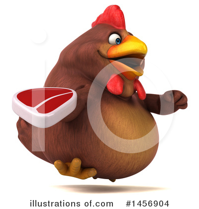 Chubby Brown Chicken Clipart #1456904 by Julos