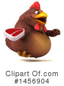 Royalty-Free (RF) Chubby Brown Chicken Clipart Illustration #1456904