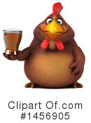 Royalty-Free (RF) Chubby Brown Chicken Clipart Illustration #1456905