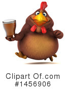 Royalty-Free (RF) Chubby Brown Chicken Clipart Illustration #1456906