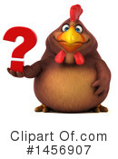 Royalty-Free (RF) Chubby Brown Chicken Clipart Illustration #1456907