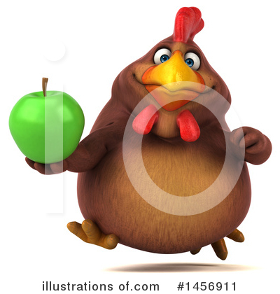 Chubby Brown Chicken Clipart #1456911 by Julos