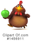 Royalty-Free (RF) Chubby Brown Chicken Clipart Illustration #1456911