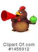 Royalty-Free (RF) Chubby Brown Chicken Clipart Illustration #1456912