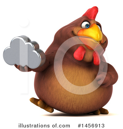 Chubby Brown Chicken Clipart #1456913 by Julos