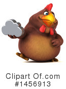 Royalty-Free (RF) Chubby Brown Chicken Clipart Illustration #1456913