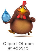 Royalty-Free (RF) Chubby Brown Chicken Clipart Illustration #1456915