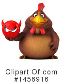 Royalty-Free (RF) Chubby Brown Chicken Clipart Illustration #1456916