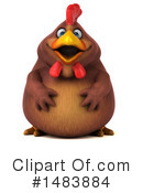 Royalty-Free (RF) Chubby Brown Chicken Clipart Illustration #1483884