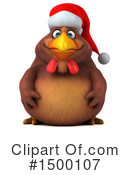 Royalty-Free (RF) Chubby Brown Chicken Clipart Illustration #1500107