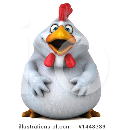 Royalty-Free (RF) Chubby Chicken Clipart Illustration by Julos - Stock Sample #1448336