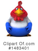 Chubby French Chicken Clipart #1483401