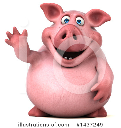Royalty-Free (RF) Chubby Pig Clipart Illustration by Julos - Stock Sample #1437249