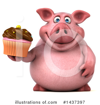 Chubby Pig Clipart #1437397 by Julos