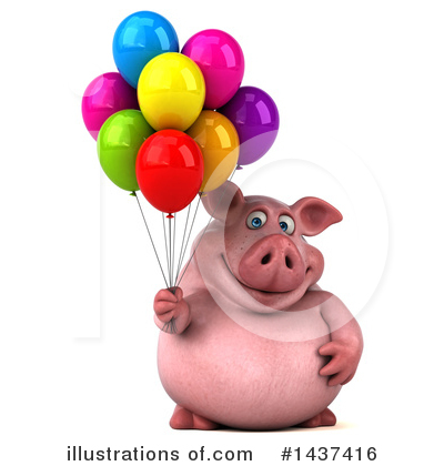 Royalty-Free (RF) Chubby Pig Clipart Illustration by Julos - Stock Sample #1437416