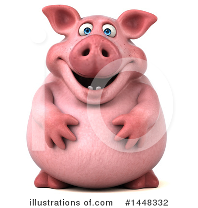 Royalty-Free (RF) Chubby Pig Clipart Illustration by Julos - Stock Sample #1448332