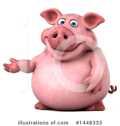 Chubby Pig Clipart #1448333 by Julos