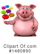 Chubby Pig Clipart #1480890 by Julos