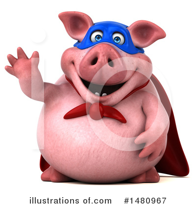 Super Pig Clipart #1480967 by Julos