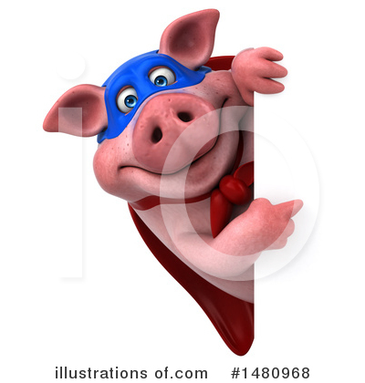 Super Pig Clipart #1480968 by Julos