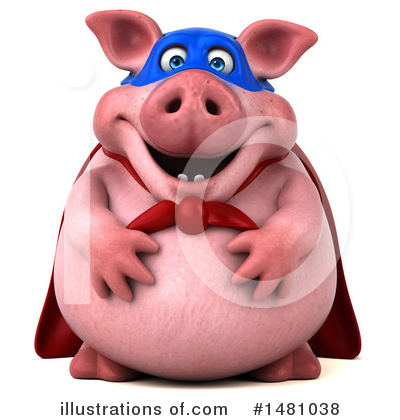Super Pig Clipart #1481038 by Julos