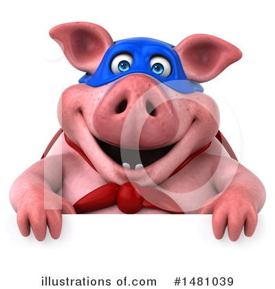Super Pig Clipart #1481039 by Julos