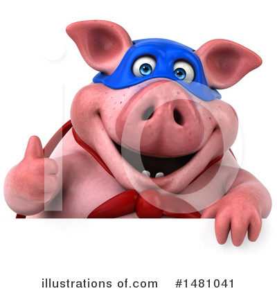 Super Pig Clipart #1481041 by Julos