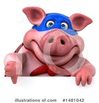 Super Pig Clipart #1481042 by Julos