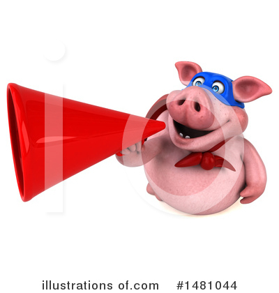 Super Pig Clipart #1481044 by Julos