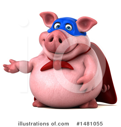 Super Pig Clipart #1481055 by Julos