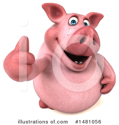 Chubby Pig Clipart #1481056 by Julos