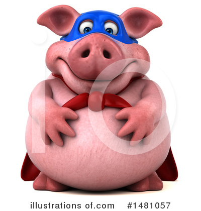 Super Pig Clipart #1481057 by Julos