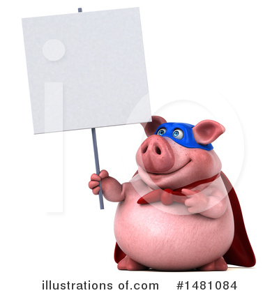 Super Pig Clipart #1481084 by Julos
