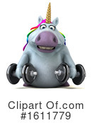 Chubby Unicorn Clipart #1611779 by Julos