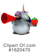 Chubby Unicorn Clipart #1620470 by Julos