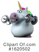 Chubby Unicorn Clipart #1620502 by Julos