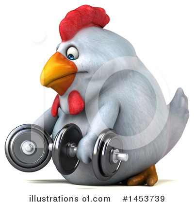 Royalty-Free (RF) Chubby White Chicken Clipart Illustration by Julos - Stock Sample #1453739