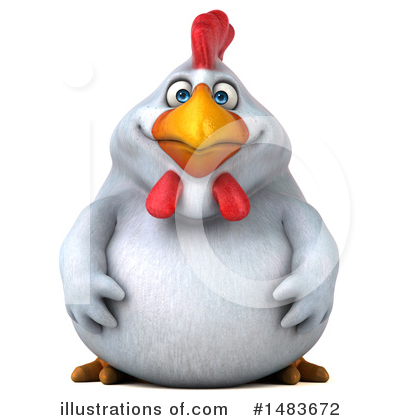 Chubby White Chicken Clipart #1483672 by Julos