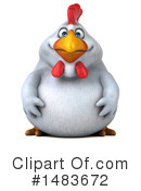 Chubby White Chicken Clipart #1483672