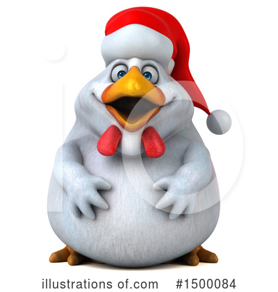 Chubby White Chicken Clipart #1500084 by Julos