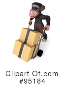 Royalty-Free (RF) chumpy chimp character Clipart Illustration #95184