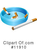 Cigarette Clipart #11910 by AtStockIllustration