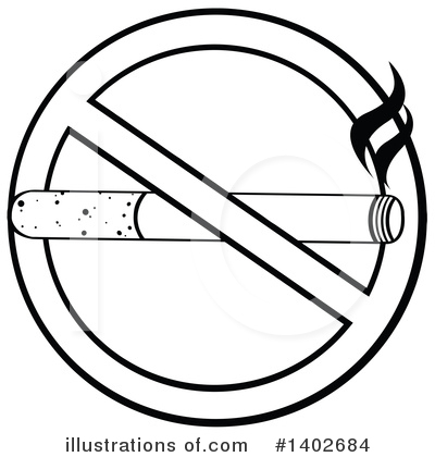 No Smoking Clipart #1402684 by Hit Toon