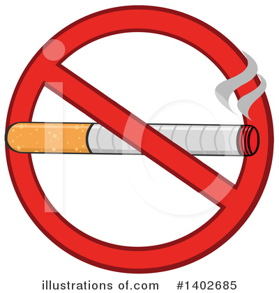 No Smoking Clipart #1402685 by Hit Toon