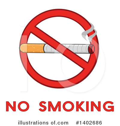 No Smoking Clipart #1402686 by Hit Toon
