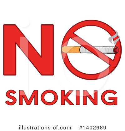 No Smoking Clipart #1402689 by Hit Toon