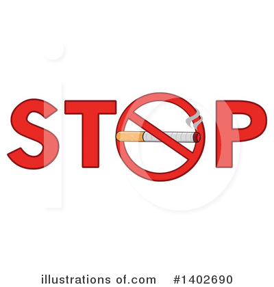 No Smoking Clipart #1402690 by Hit Toon
