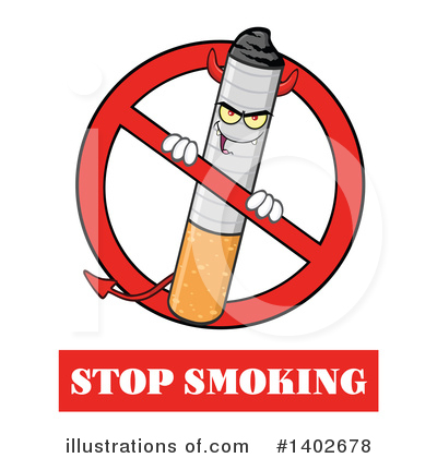 No Smoking Clipart #1402678 by Hit Toon