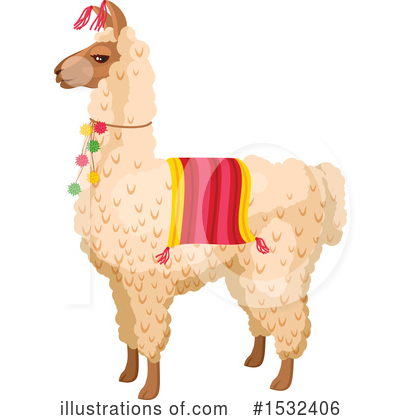 Llama Clipart #1532406 by Vector Tradition SM